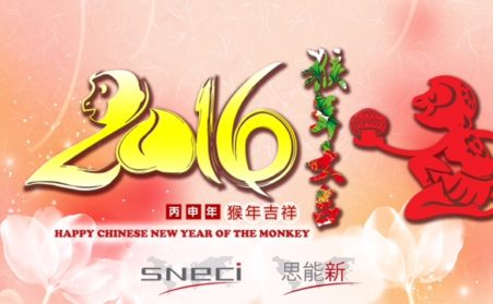 SNECI Wishes You A Happy Chinese New Year Of The Monkey !